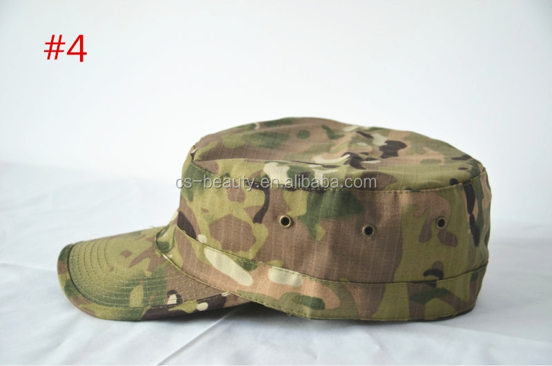 Military inspired cap Solid Army Washed Military Cadet Patrol visor Caps CP Hats