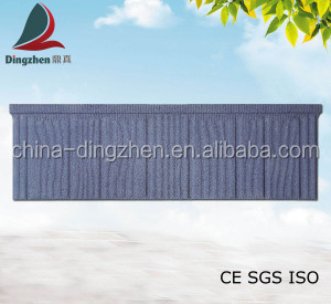 Heat Resistance Building Material Fashion Flat Roofing Material Shingle Types of Color Roof Tile