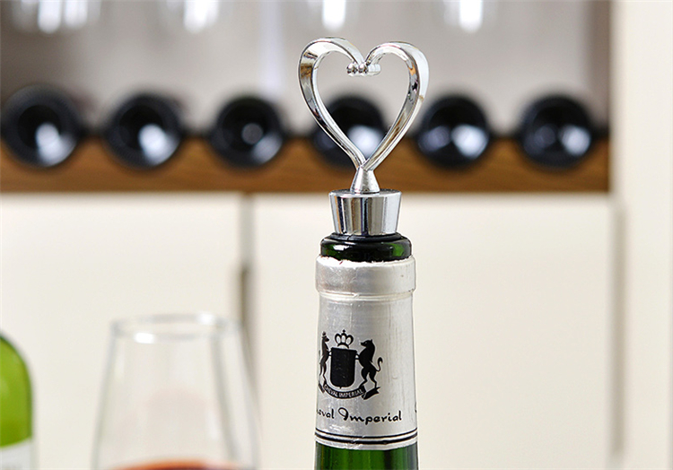Alloy Heart bottle stopper retain freshness