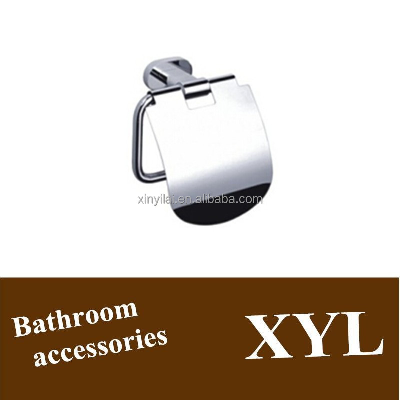 Bathroom hardaware chrome brass paper holder for toilet