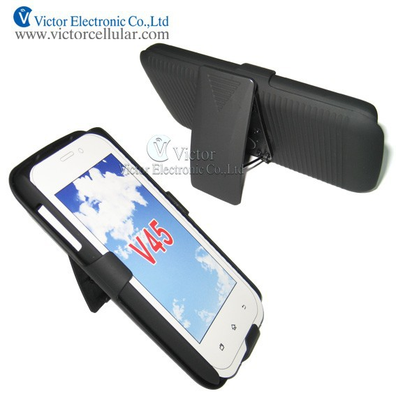 HOT Mobile phone clip stripes holster cases for NEXTEL V45