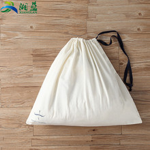 drawstring style and cotton material linen bread cotton drawstring bag