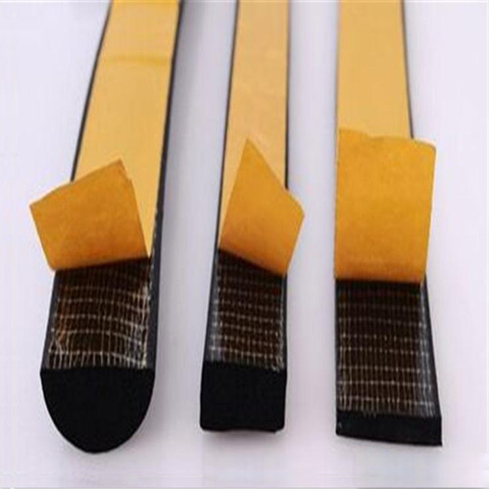 Double sided bi-directional filament strapping tape for PU sealing