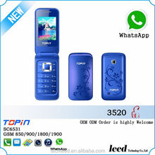 China factory price hot sale flip model H3520 mini flip cell phone