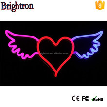 neon led light with Al fixtures to make neon heart light and ring neon light designs