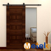 Carbon steel European modern home and office interior wood sliding barn door