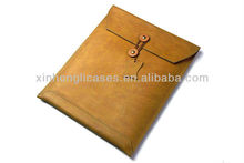 new arrival Top quality See larger image Leather postcard pouchi envelop case cover for ipad mini