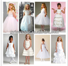 Fashion Flower Girl Dress Patterns Wholesale Baby Girl Summer Dress with Bow Back