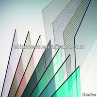 Sabic/Bayer polycarbonate resin high light transmission pc solid sheet 10 years warranty