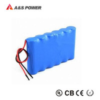 Rechargeable 4400mah 18650 3S2P small 12 volt battery for power tools