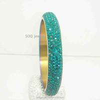 SG480410061 Cute Blue Statement Jewelry for Women Fashion Bangles Made With Elements CZ Crystal