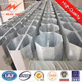 Octagonal Steel Galvanized hot 11 meters steel pole with 8KN load