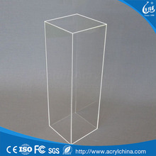40cm Square - Clear Acrylic Display Pedestal / Plinth - 50cm Tall