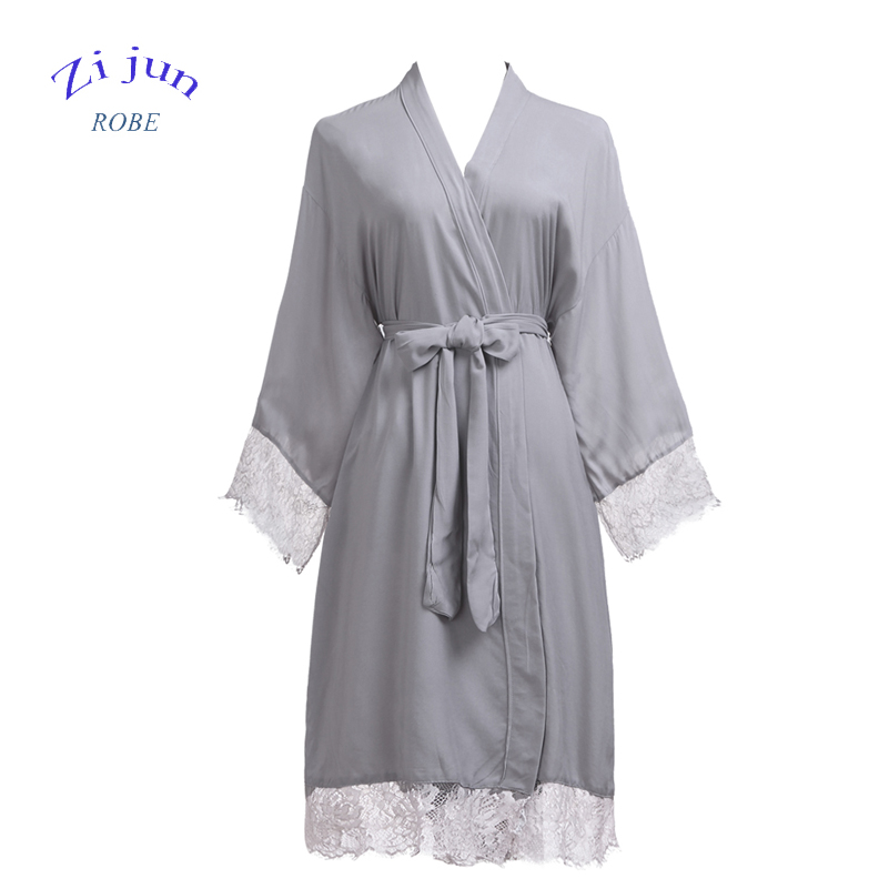 Sexy Wedding Short Lace cotton for Summer Bridesmaid sleeping robe