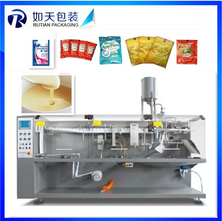 Automatic Argan tree oil filling sealing machine for 3 sides sealed bags