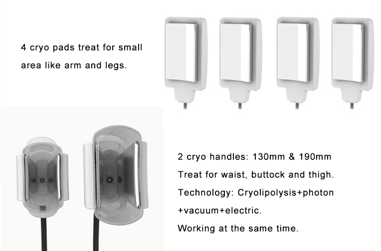 High effective crylipolysis paddles cryolipolysis slimming machine for beauty salon