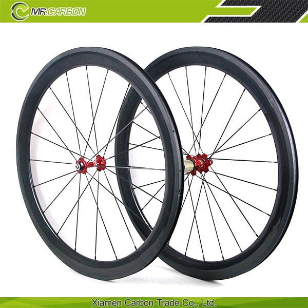 fast delivery oem carbon wheel bicycle wheels 60mm carbon clincher wheel