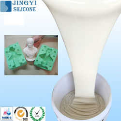 Guangzhou raw materials silicone rubber mould making liquid silicone rubber for plaster statues/artificial lighting craft