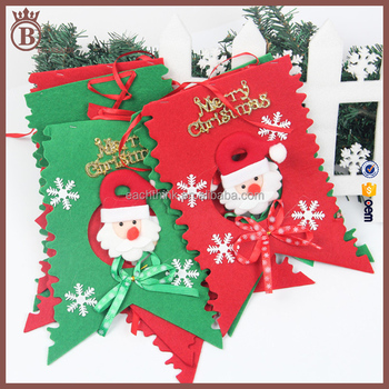 Luxury Festive Bunting Banners Christmas Garland Hanging
