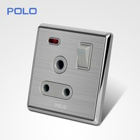 2015 New design Hot sale modern BS type 15 amp switched socket