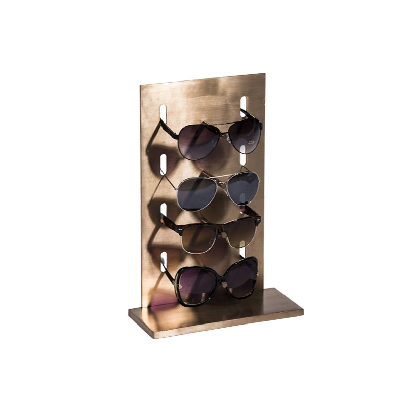 rose gold brushed stainless steel eyewear sunglass displays rack stands