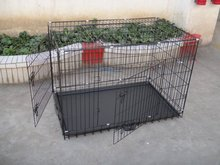 folding wire dog puppy crate cage kennel