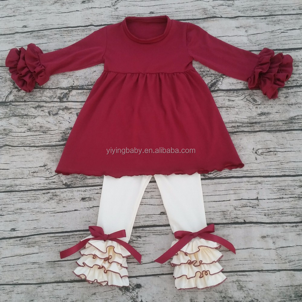 2016 Kids girl fall children boutique clothing sets baby china supplier western girls outfit wholesale teen clothing outfits