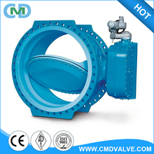 Large Diameter Electric Actuator Flanged Type EPDM Seat Double Line Butterfly Valve