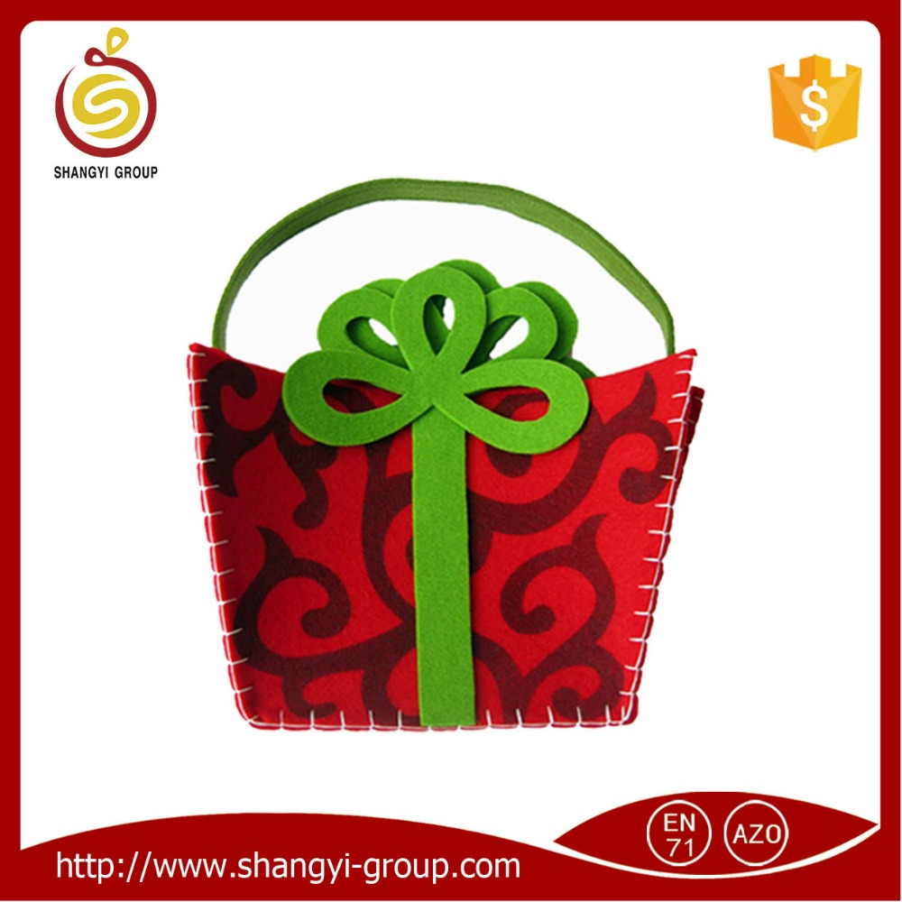Christmas felt hanging candy gift bag for child
