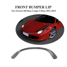 Carbon Fiber Car Bumper Lip for Ferrari 458 Base Coupe 2-Door 11-13