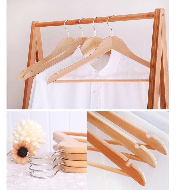 Simple Style good quality Wood Hanger For Baby Cloth