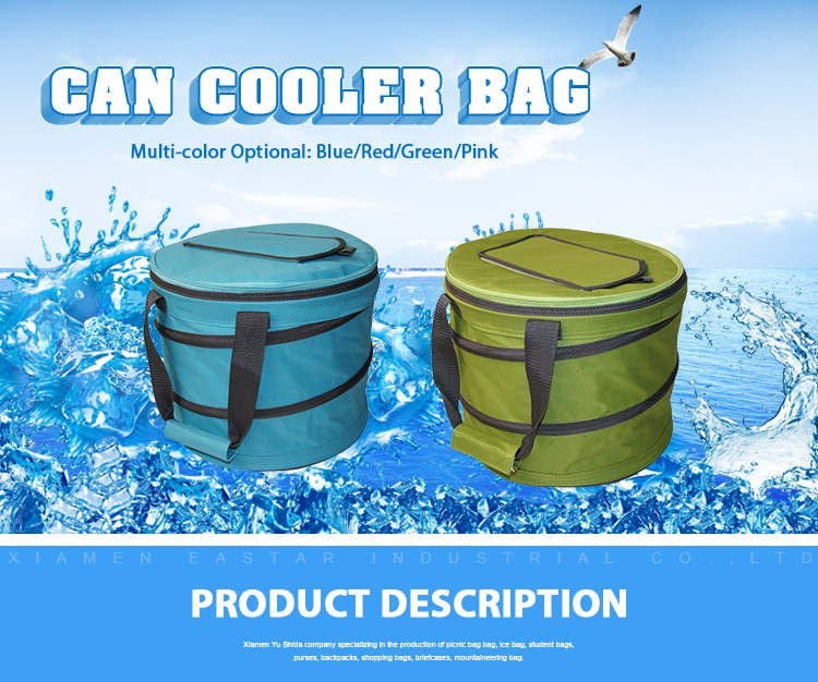Wholesale Custom Collapsible Disposable thermal 600d picnic cooler bag