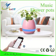 Bluetooth speaker with fm radio music flower pot speaker many people like portable speaker
