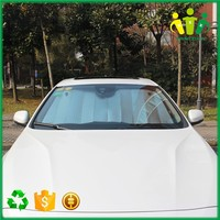 Front winshield shield and double aluminum shade party wear car parking shade net