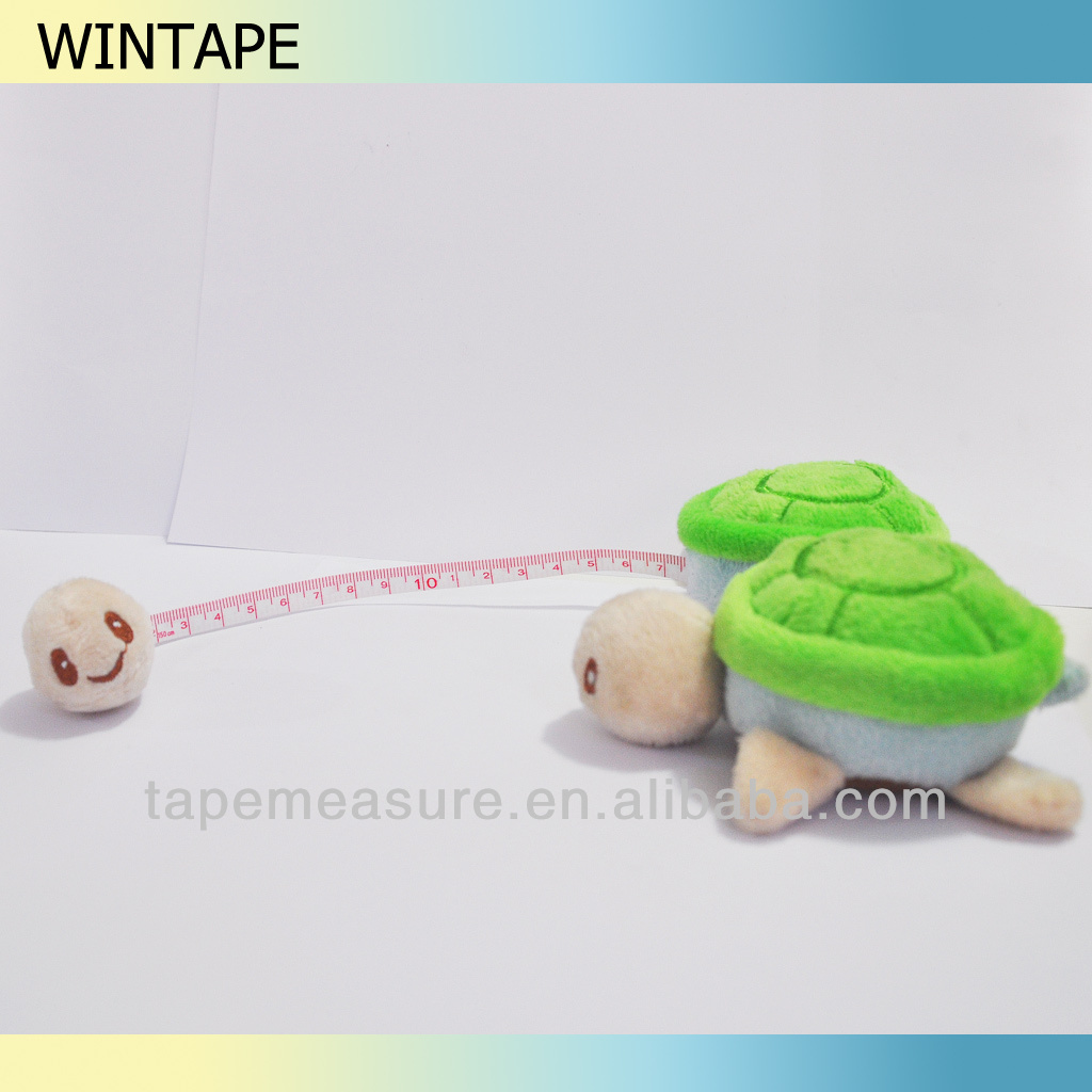 Turtle shape plush pendants with tape measure