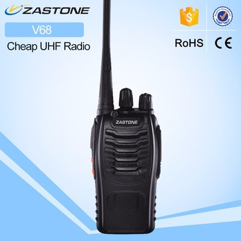 ZT-V68 car radio walkie talkie 888S UHF Frequency Zastone Portable FM Radio Cheap Walkie Talkie