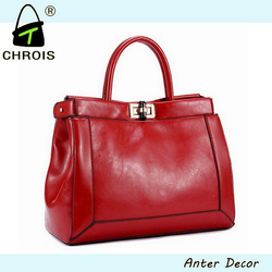 OEM ladies genuine leather handbags made in thailand and china