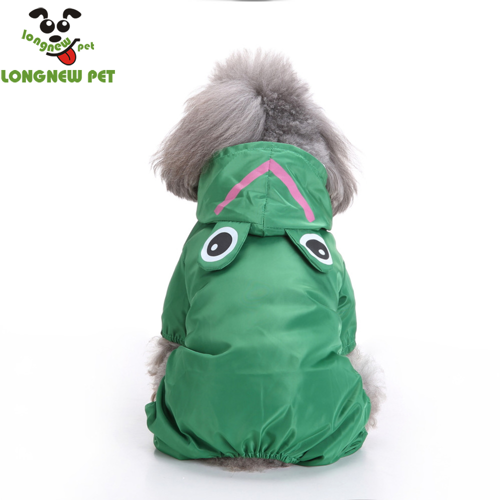 Amazon Pet Product Green Frog Dog Raincoat