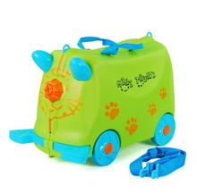 China Supplier Ridable Hard Shell Rolling Suitcase Luggage School Bag