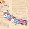 London Britain tourism souvenir metal enamel letter wall mount key holder