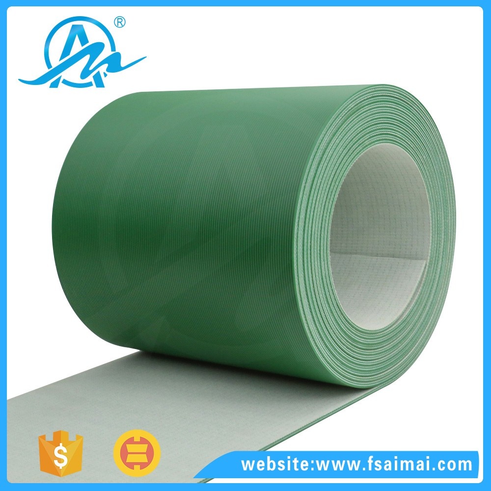 AIMAI Green A cloth glue PVC flat drive conveyor belt with best price
