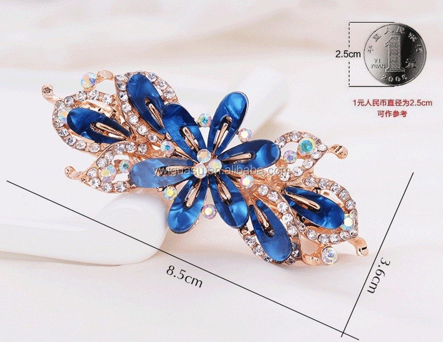 2016 newest models French hair barrette clip pin hair wear ornament with flower Floral hair accessory accesorio para cabello