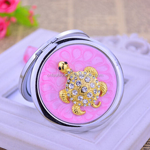Metal Compact Mirror Handbag Cosmetic Mirror Purse Size Makeup Mirrors