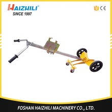 420kg two wheels hand hydraulic oil drum truck, manual drum picker