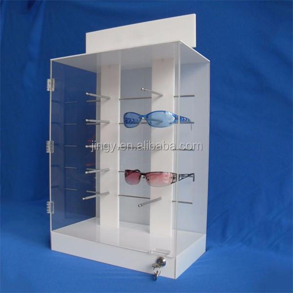 2017 New Style Pmma Plexiglass Acrylic Locking Sunglass Display Cabinet