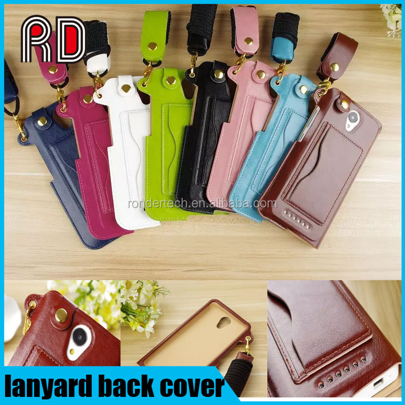 With lanyard leather back cover stand mobile phone case for xiaomi 4 redmi note 2 for iphone SE/5/6/6+ For samsung galaxy S7/s6