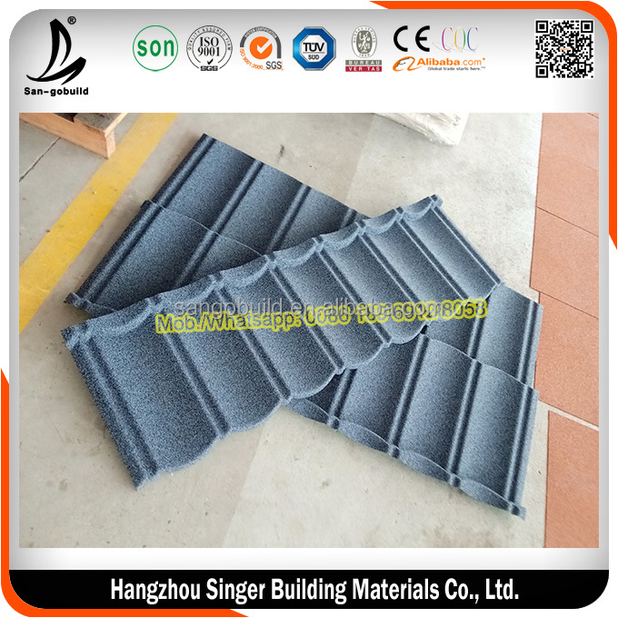 SGB Aluminum Zinc Panel Colorful Stone Coated Steel Roofing
