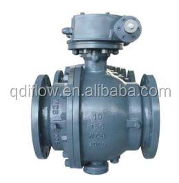 Full Port Trunnion Mounted Flanged Ball Valve with Gear Operation