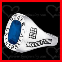 fashion jewelry new product 316l stainless steel college class ring for students