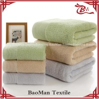 Baoman bamboo fiber face towel jacquard terry cloth for 5 star hotel with high quality